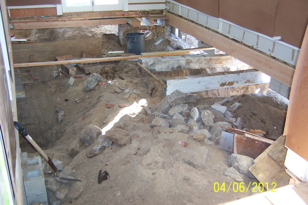 Excavation and temporary shoring